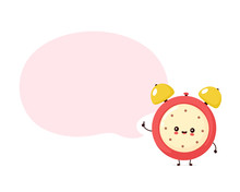 Cute Smiling Happy Alarm Time ...