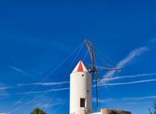 Windmill Near Mahon (Mao) On The Island Of Menorca, Spain