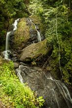 Waterfalls Cascading Down Rock...