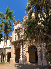 Tipycal Spanish Building In Balboa Park, 200-acre Urban Cultural Park In San Diego, California, United States.