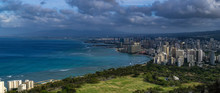 View Of Waikiki Beach And Honolulu Skyline From Diamond Head