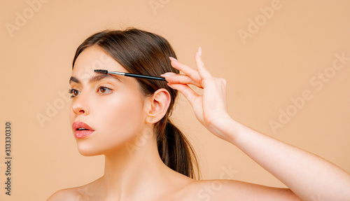 Canvas Print Womans eyebrows