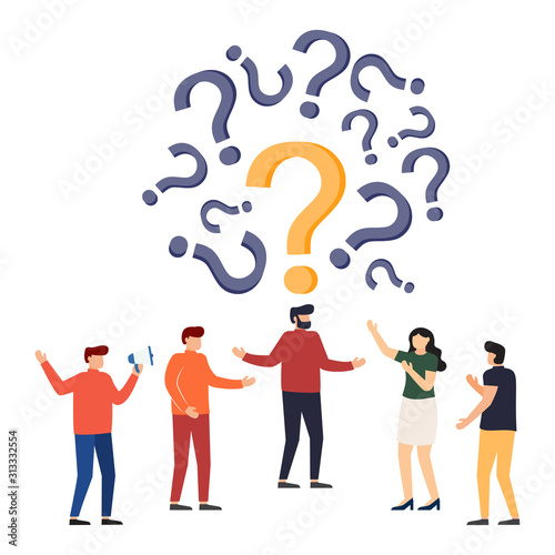 People frequently asked questions around question marks. Slika na platnu
