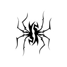 Abstract Tribal Spiders Vector Image. Tattoo Tribal Vector Design