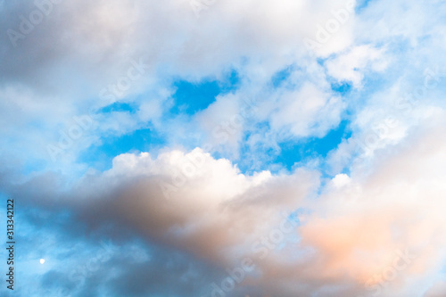 Photo 青空と雲の背景素材
