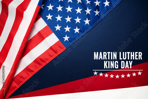 Martin Luther King, Jr. Day Anniversary - American flag Canvas Print