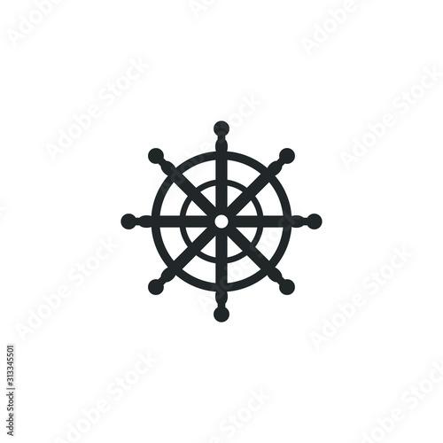 Ship steering wheel icon template color editable Wallpaper Mural