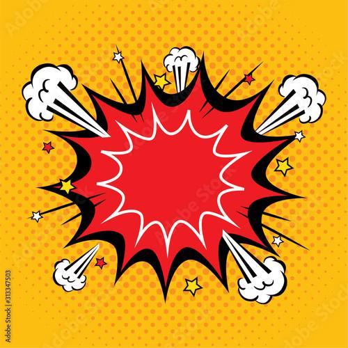 explosion pop art style icon vector illustration design Canvas