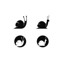 Snail Logo Template Vector Ico...