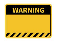 Warning Sign. Blank Warning Sign. Vector Illustration