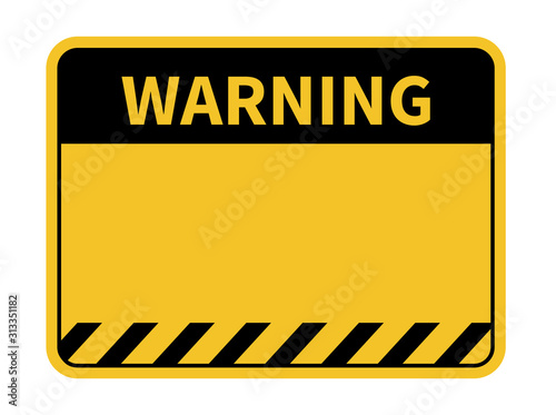 Canvas Print Warning sign. Blank warning sign. Vector illustration