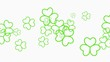 Animation Saint Patricks Day holiday background with motion green shamrocks. Luxury and elegant dynamic style template for holiday