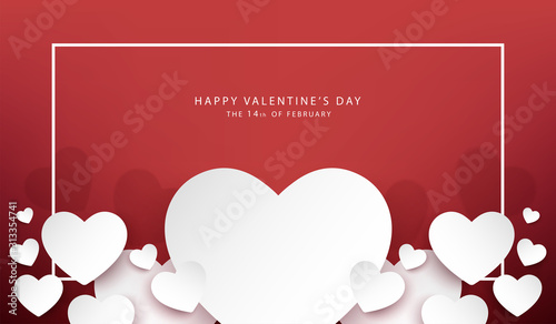 happy valentine's day banner vector desige Tablou Canvas