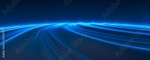 3d light blue motion data server background