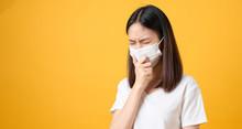 Asian Women Wear Masks To Prot...