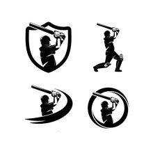 Cricket Sport Logo Template De...