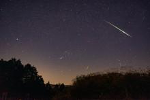 阿蘇夜景 流れ星