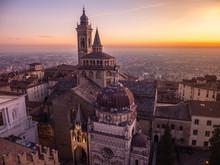 Bergamo, Italy. The Old Town. ...
