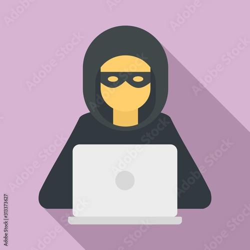 hacker man icon flat illustration of hacker man vector icon for web design wall mural anatolir wallsheaven
