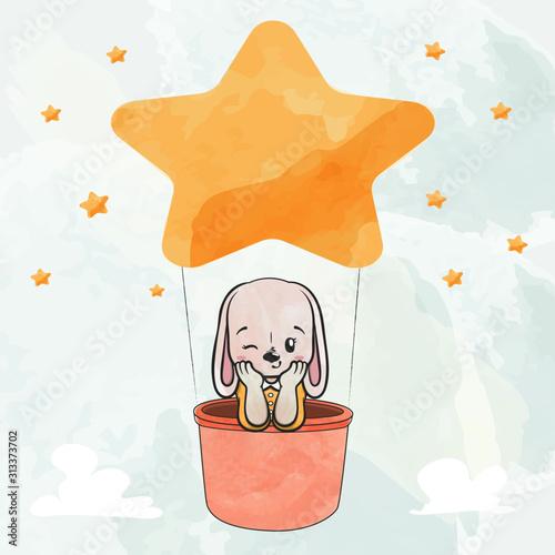 sliczny-krolik-w-gwiazda-balonie