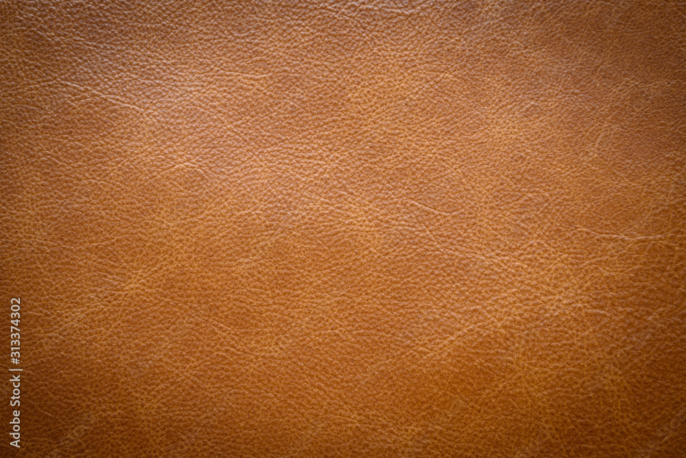 Fototapeta Brown leather texture . background