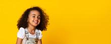 Cute Little Black Girl Sincere...