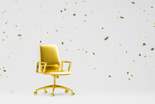 Gold Office Chair As Symbol Of Success