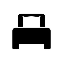 Bed Icon, Logo Isolated On Whi...