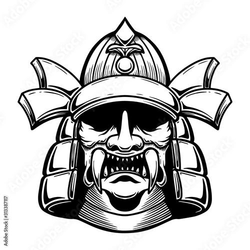 Fotografija Illustration of japan samurai warrior