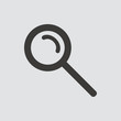 Magnifying Glass. Search icon isolated of flat style. Vector illustration.