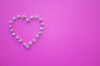 canvas print picture - heart for an inscription, mock-up put on Valentine's Day, heart on a pink background