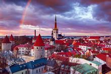 Tallinn View At Sunset