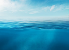Blue Sea Or Ocean Water Surfac...
