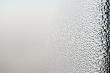 Wet Window Glass Surface Backg...