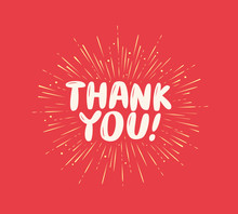 Thank You Greeting. Card With ...