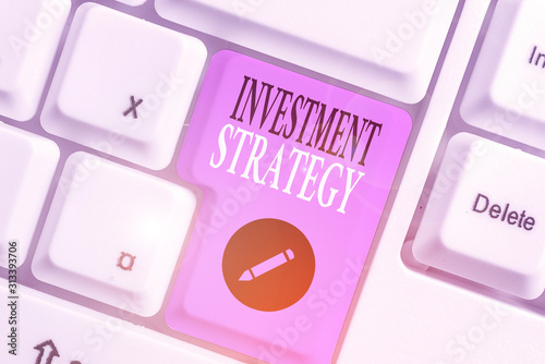 Handwriting text writing Investment Strategy Canvas Print