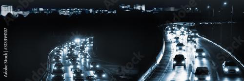 Fotografía nächtlicher stadtverkehr