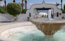 Fountain At The Entrance To The Kallithea Therms, Kallithea Spring On Rhodes Island, Greece