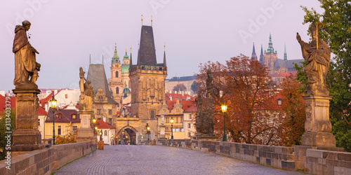 Prague - The Castle and Cathedral and st Canvas Print