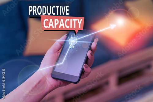 Handwriting text Productive Capacity Wallpaper Mural