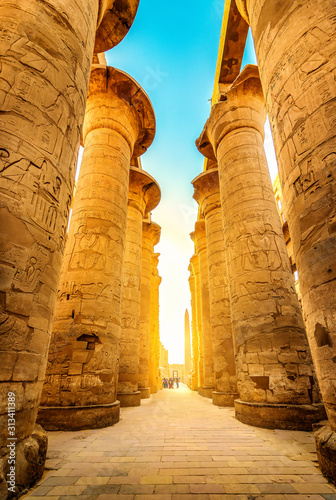 Luxor Temple Ruins Wallpaper Mural