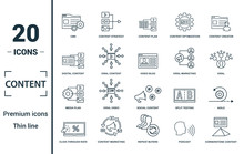 Content Icon Set. Include Crea...