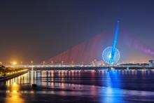 Fabulous Night View Of The Tran Thi Ly Bridge, Danang