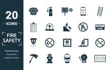 Fire Safety Icon Set. Include ...