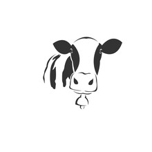 Vector Image Of An Cow Black A...
