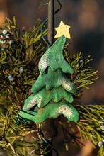 Christmas Tree In The Garden