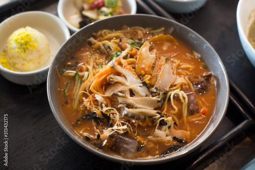 abalone cold raw fish soup korean food Wallpaper Mural