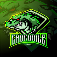 Angry Crocodile Mascot Esport Logo Design