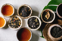 Variety Of Hot And Dry Tea Gre...