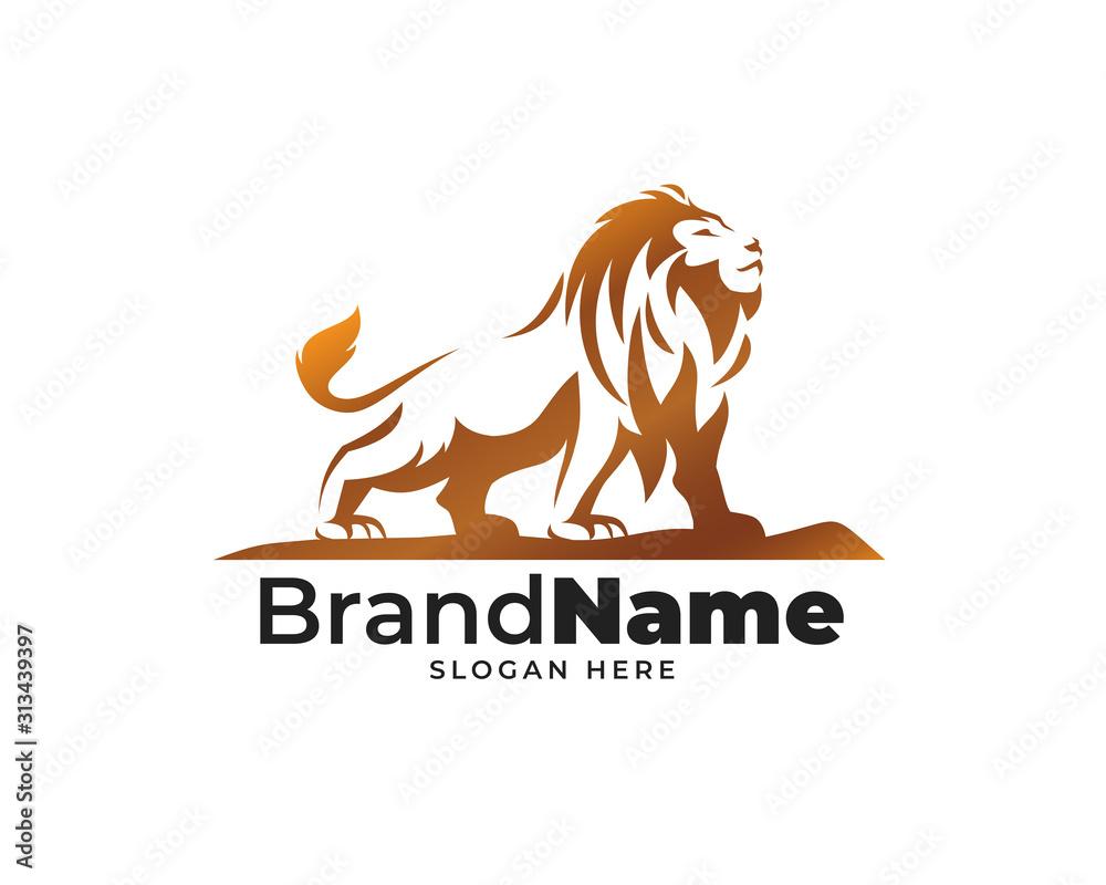 Fototapeta lion head logo design vector
